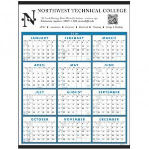 Popular full-size one sheet commercial #calendar with your large imprint at the top.