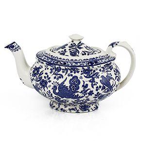Burleigh Blue Regal Peacock Teapot