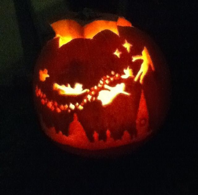23 best tinkerbell pumpkins images on pinterest disney for How to carve tinkerbell in a pumpkin
