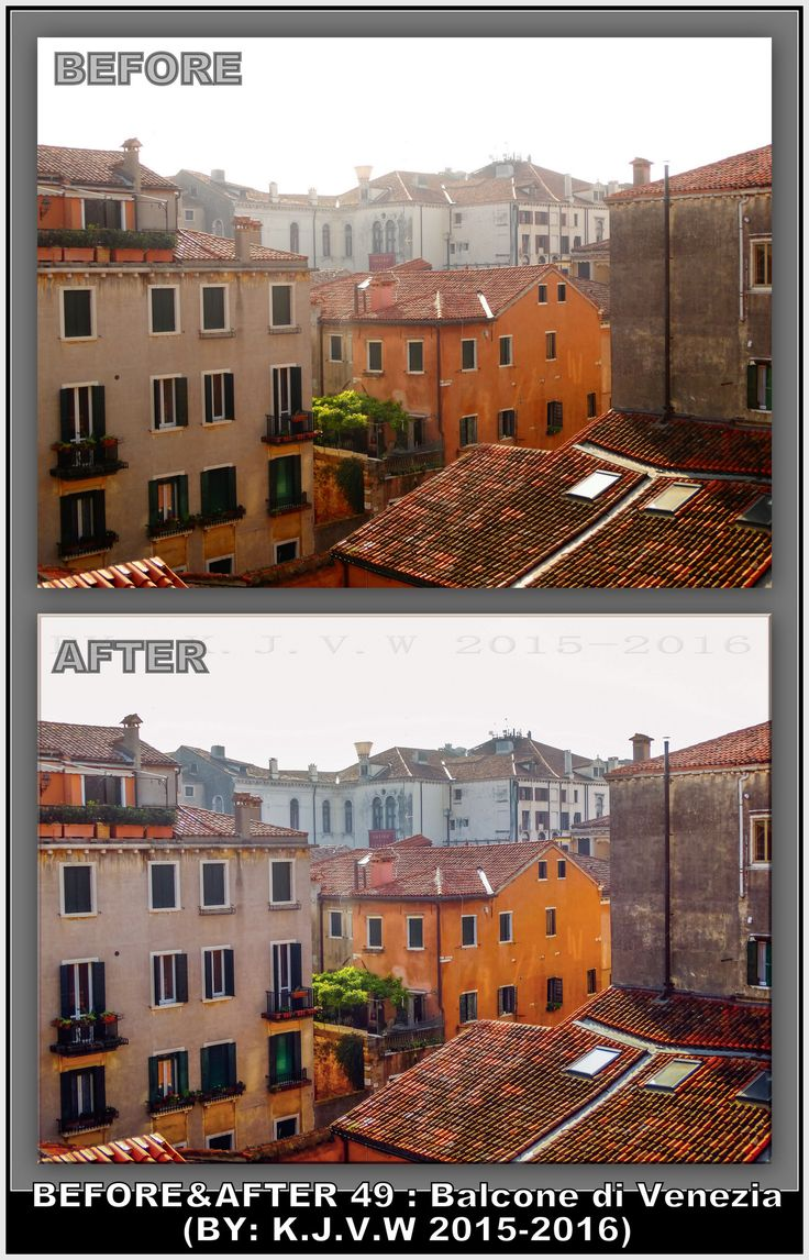 https://flic.kr/p/KpCSZX | Before AND After : 49 | What's the title?  Balcone di Venezia.  Why?  Because it´s an venice cityscape view from a balcony.  Where was this?  Venice,Italy  In what year is this made?  This picture was made in 2015 and edited in 2016.  What did you change?  I had tried to post-processing this picture earlier (without the RAW-editor), now i did it with the raw editor.  Finally, Your Plan?  1-Captured the shot 2-converted image on the PC 3-Opened image in RAW-editor…