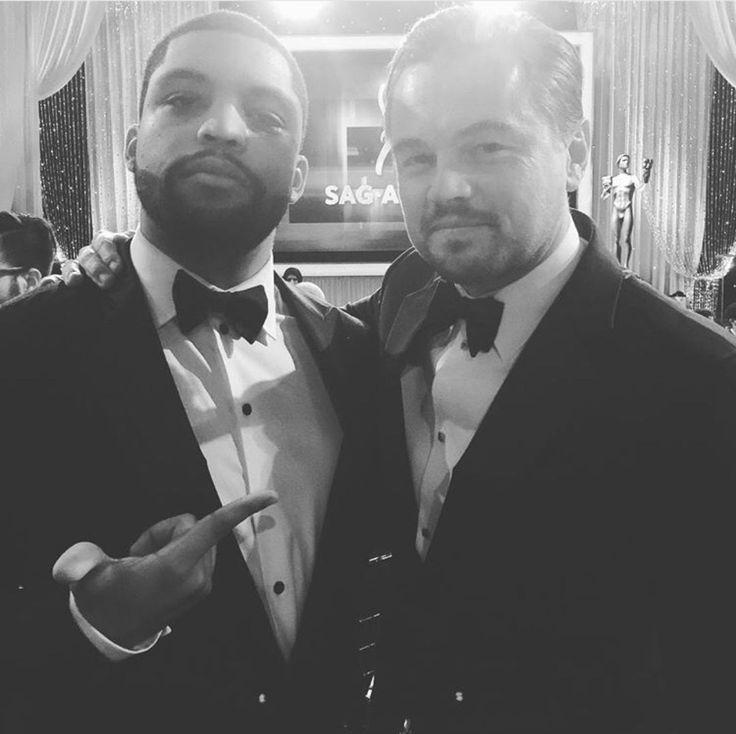 """still-talkinshit: """"O'shea Jackson Jr. and Leonardo DiCaprio - SAG Awards - 1/30/16 """""""