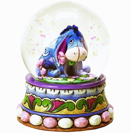 ★ New JIM SHORE DISNEY Figurine WINNIE POOH Waterball EEYORE Water Globe Statue
