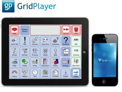 Kostenloser Grid Player für iPad and iPhone. Zusammen mit der kostenpflichtigen Kommunikationssoftware The Grid2 können eigene Kommunikationstafeln erstellt und mobil genutzt werden.