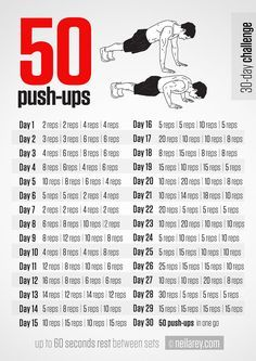 Men's Fitness: 30 Days Push-Up Challenge