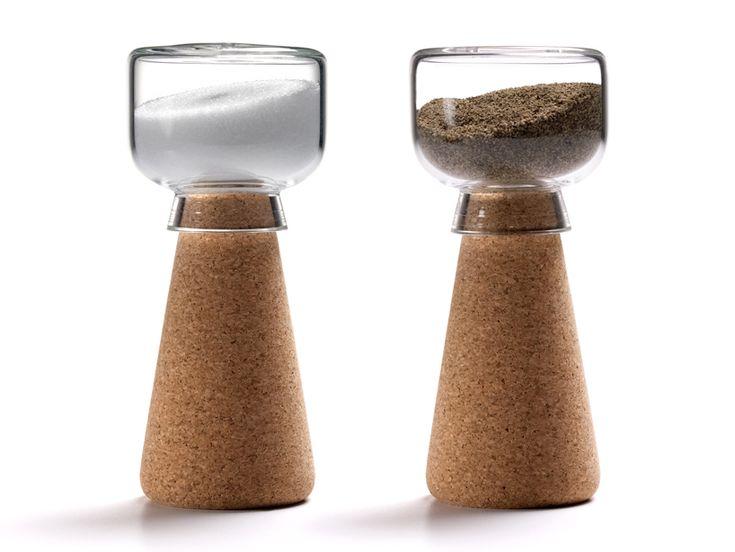 'par' salt & pepper shaker by Nendo for materia: Kitchens, Salts Peppers Shakers, Nendo, Par Salts, Corks Design, Corks Salts, Salts Shakers, Par Corks, Products