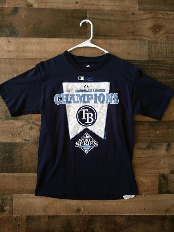 2008 Majestic Authentic Collection Tampa Bay Rays Alcs Champions Shirt Champion Shirt Mens Tops Mens Tshirts