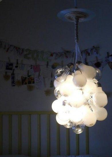 Lampadario di lampadine