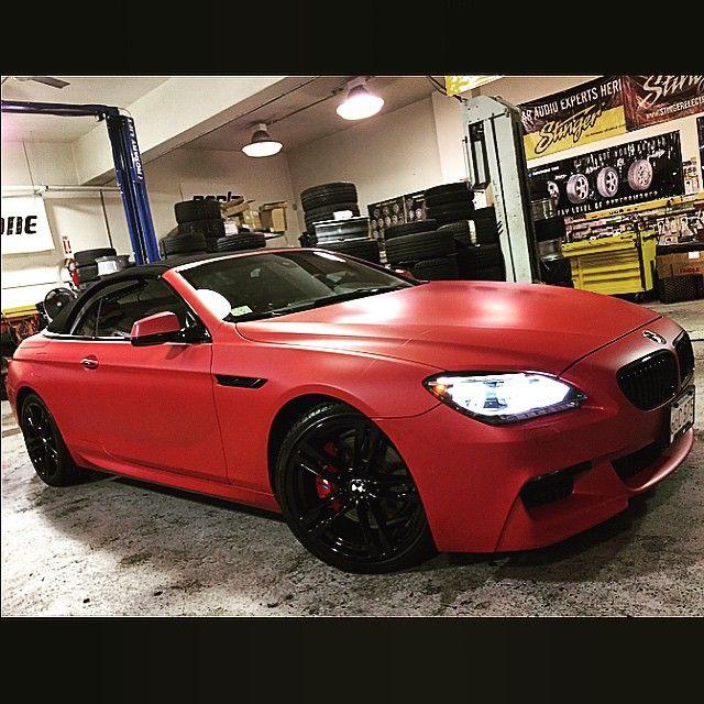Instagram media by newageautosport - Bmw 650 Convertible..Wrapped Matte Red Metallic, Wheels Powder Coated Gloss Black, And Calipers Painted Gloss Red...#bmw #instabmw #6series #bmwgram #bimmer #cargram #carlook #carporn #carwrap #instalikes #instacar #instagood #3m #mattered #teamnewage #newage #newageautosport #nj #ny #fortlee #bergencounty #custom #customshop #customcarshop