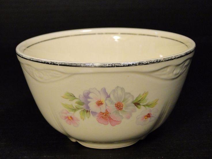 Homer Laughlin Virginia Rose Fluffy Rose Cranberry Oatmeal Bowl RARE! #HomerLaughlin