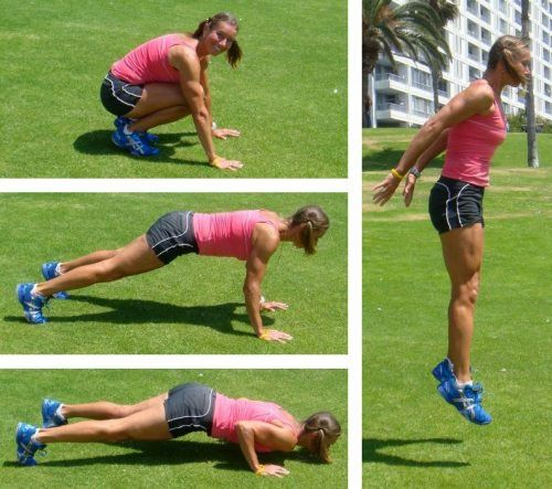 The Burpee!! Try a 10 minute burpee challenge! You're really gonna need some good tunes for this one!