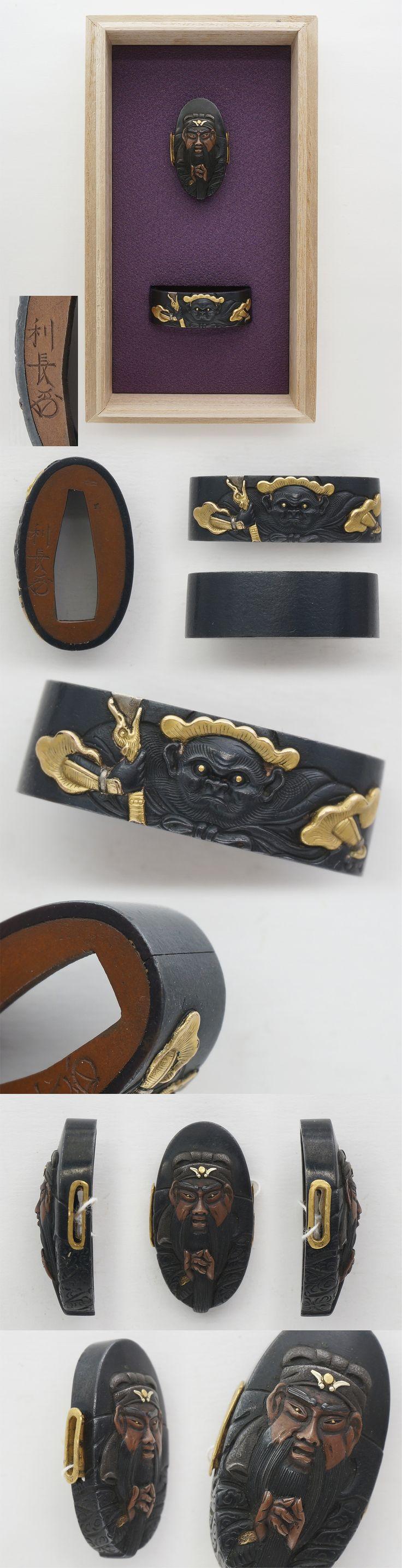 Fuchi Kashira : Toshinaga (Kao) Edo era  (perso)