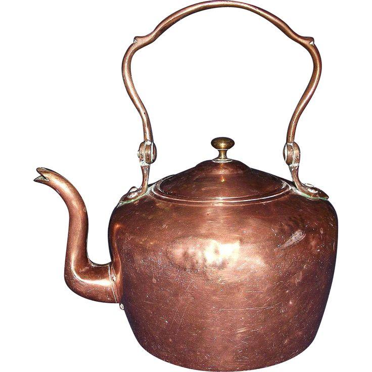 Dovetailed Transitional Copper Teapot Circa 1865 !!! - Dovetailed Transitional Copper Teapot Circa 1865 !!!