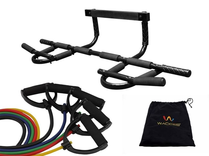 p90x Pull Up Bar Chin Up Resistance Bands Set Home Gym Yoga Doorway Equipment  #Wacces
