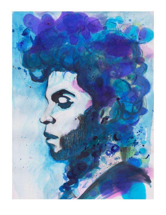 prince art  prince poster  prince wall art liquid art music