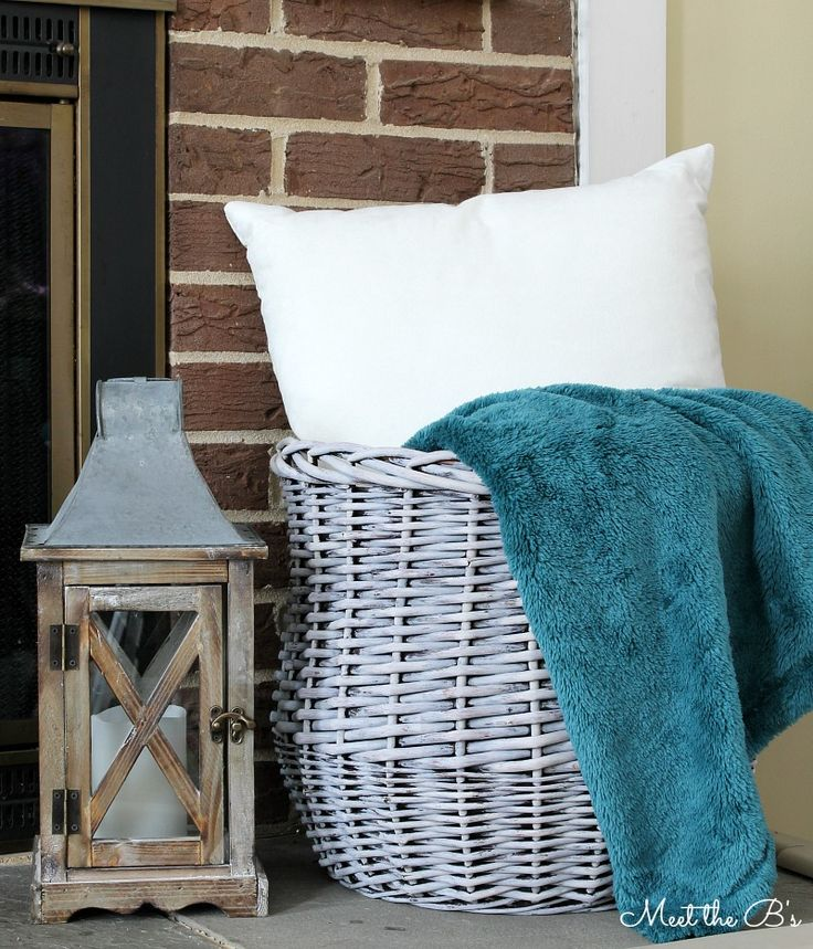 Grey washed chalk paint basket update! Learn how to easily update a basket along with 9 other creative storage solutions!
