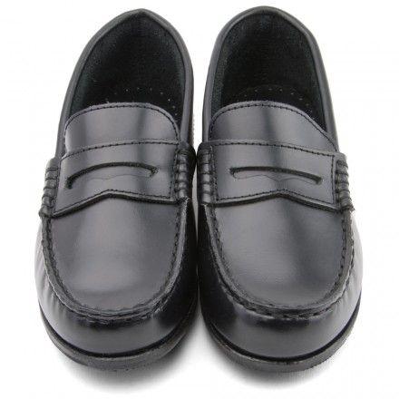 Penny, Black High Shine Leather Slip-on Boys School shoes http://www.startriteshoes.com/boys-shoes/school-shoes/boys-penny-black-high-shine