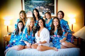 Lindas batas de damas de honor   Bodas a la moda