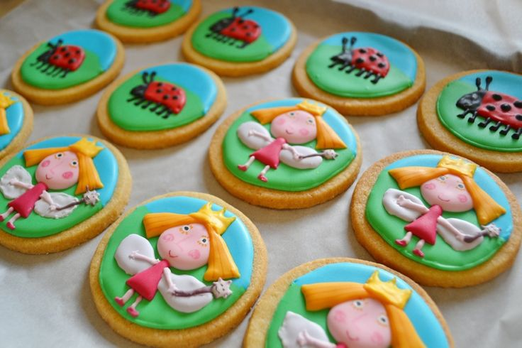 Ben and Holly's Little Kingdom cookies for 4th Birthday party