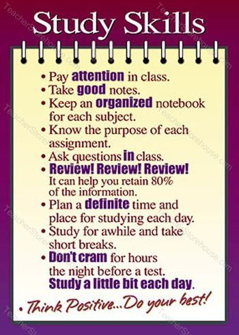Good studying habits are a good way to keep good grades throughout a school year!