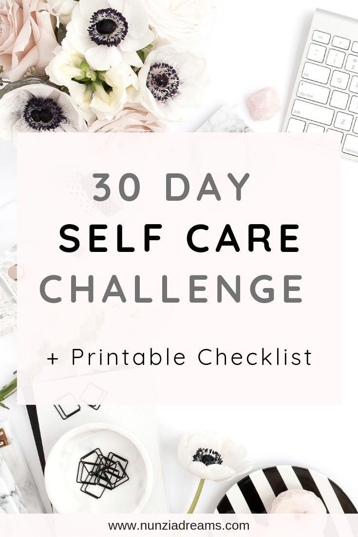 """Hier ist meine Version der """"30 Days of Self Care"""" Challenge! Ich hoffe, dass es … – Everyday Happiness"""