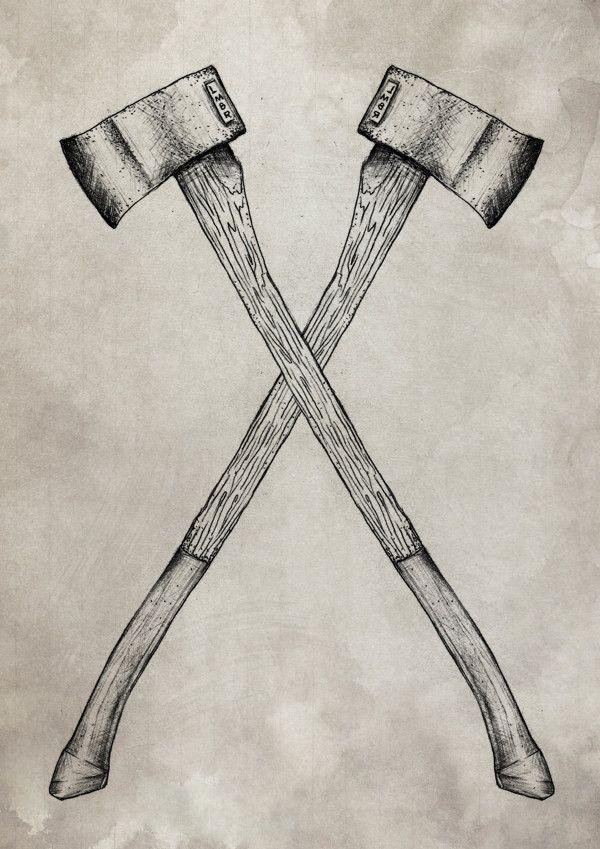 Lumberjack vs Sailor by Anderson Alves, via Behance