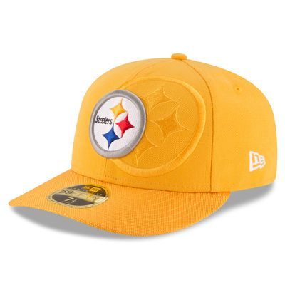 Men's New Era Gold Pittsburgh Steelers Sideline Classic Low Profile 59FIFTY Fitted Hat