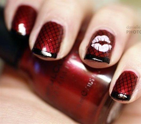 cool 45 Cute Valentine Nail Art Designs to spread Love - Latest Fashion Trends