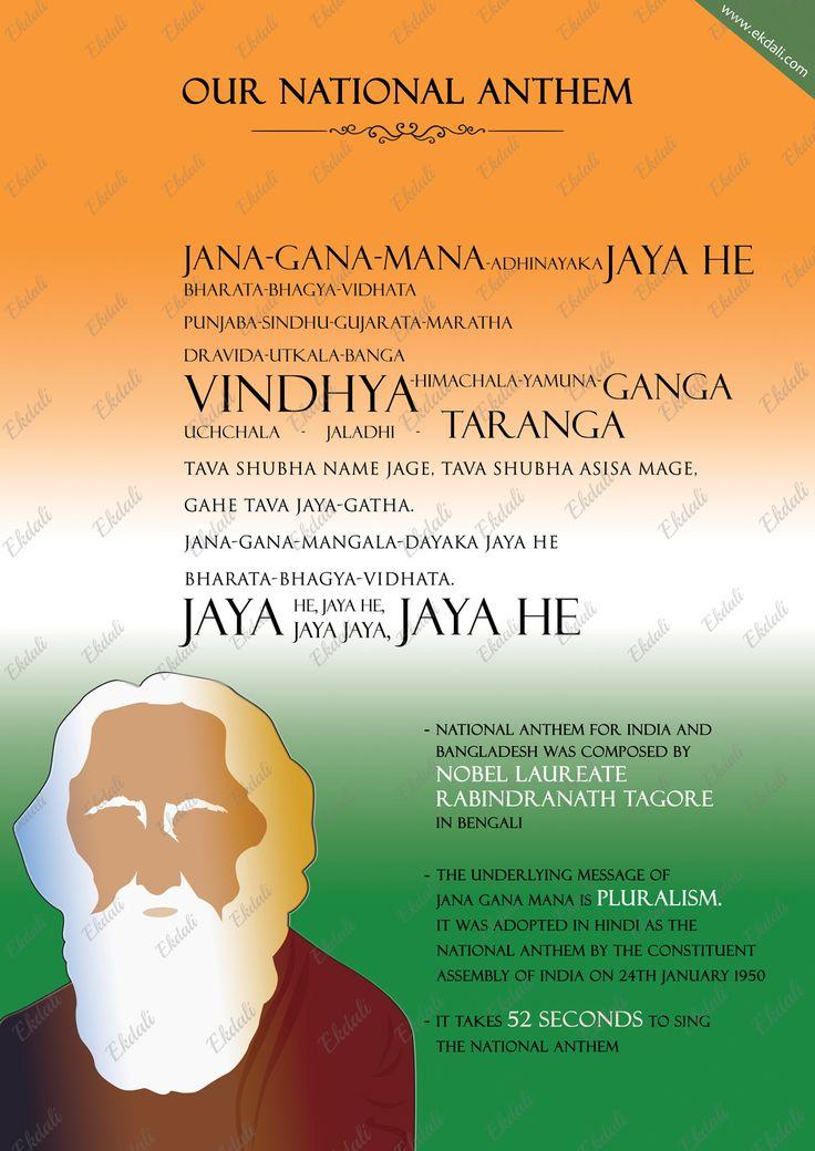 #National Anthem #Jana Gana Mana #Tagore #Indian national anthem # Rabindranath #India pride #Independence day #August 15 #ekdali #education #learning