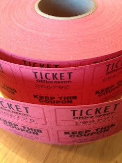 Ticket reward system with lots of rewards that don't cost a cent or are very inexpensive!