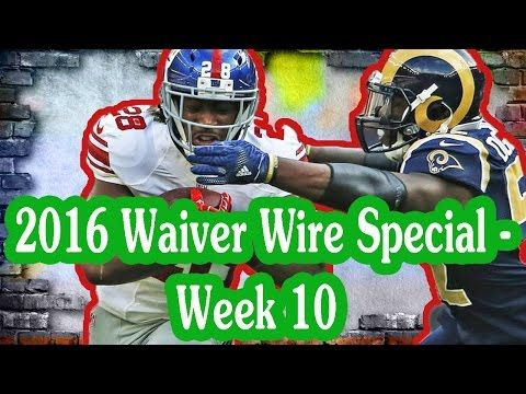 Fantasy Football Podcast - The Audible - 2016 Waiver Wire Special - Week 10
