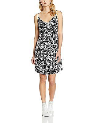 12, White (White Patterned), New Look Women's Mandy Animal Cami Slip Dress NEW
