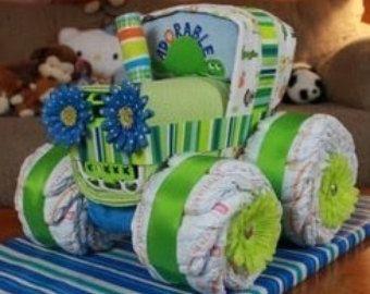 Diaper Tractor by MirandasTrinkets on Etsy