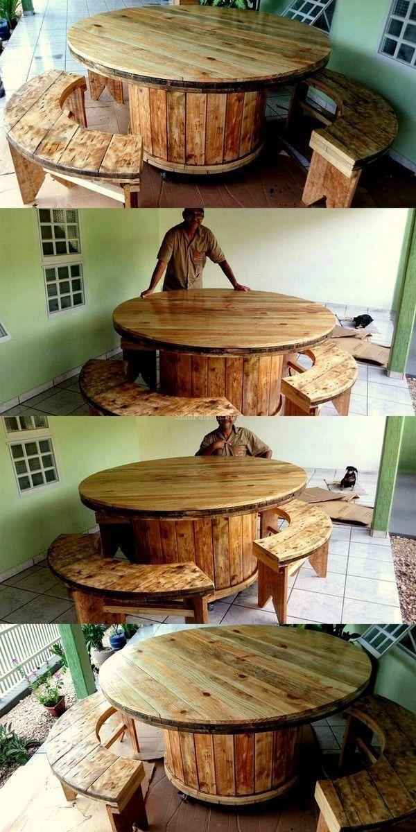 Skid Pallet Wood Reshape Projects | Pallet furniture ...