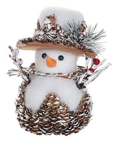 Another great find on #zulily! Small Pinecone Snowman #zulilyfinds