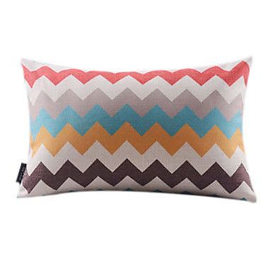 Stylish Wavy Cotton/Linen Decorrative Pillow Cover – AUD $ 18.58