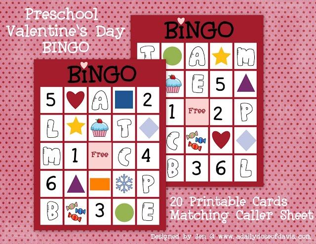 valentine heart bingo