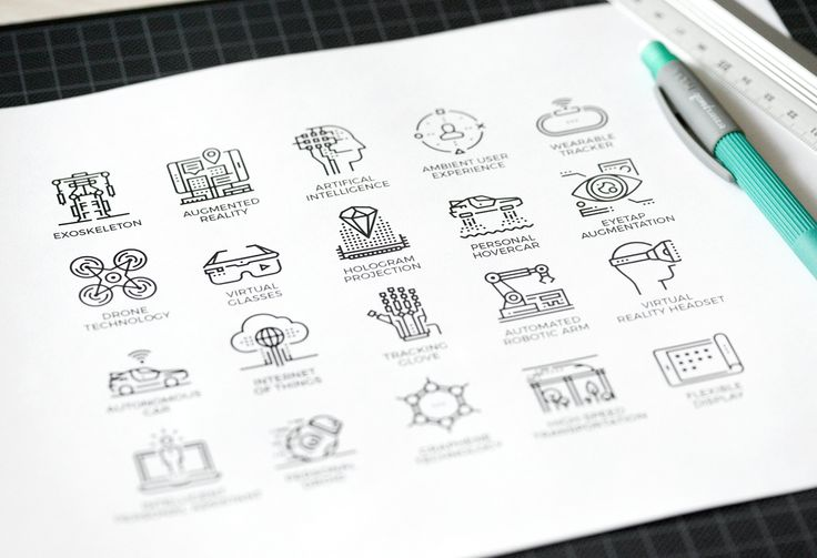 Future Technology Icons on Behance