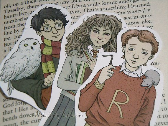 Hey, I found this really awesome Etsy listing at https://www.etsy.com/listing/258183390/harry-potter-bookmarks-gryffindor-trio