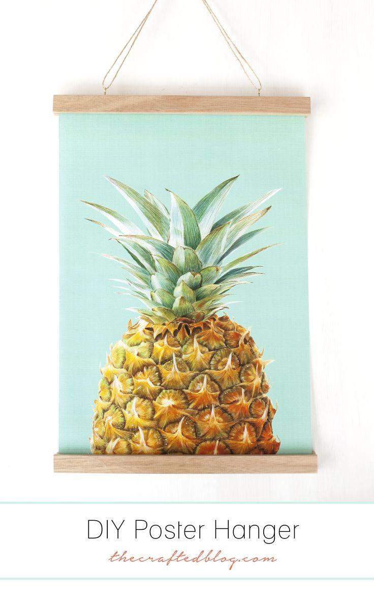 DIY Poster Hanger - thecraftedblog.com
