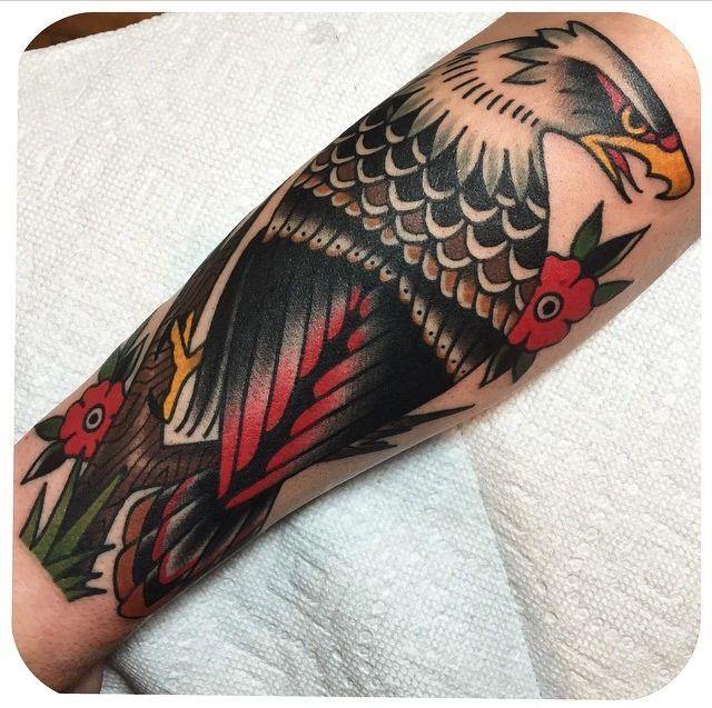 Eagle Becca Genné-Bacon The End Is Near/Hand of Glory Tattoo Brooklyn New York