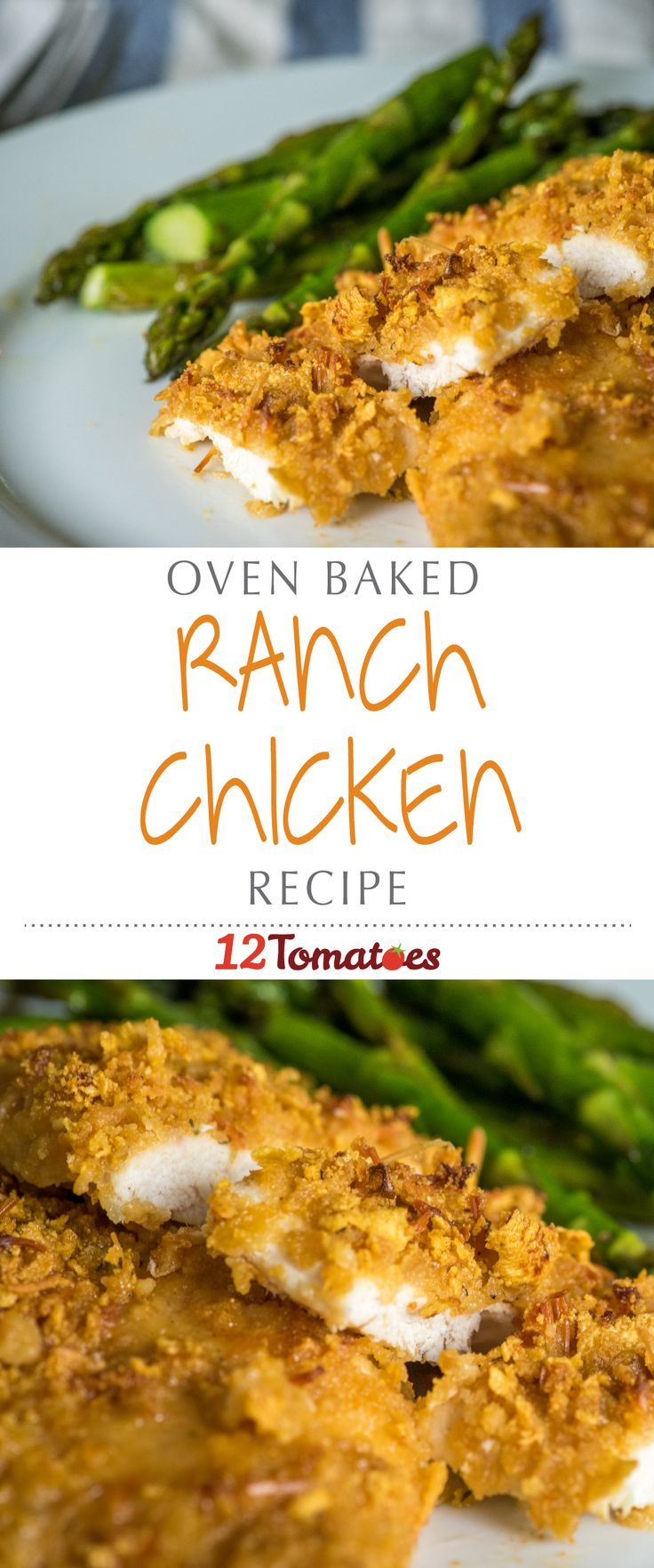 5-Ingredient Baked Ranch Chicken | It only takes five ingredients to whip up some of the crispiest and juiciest chicken we've ever had!