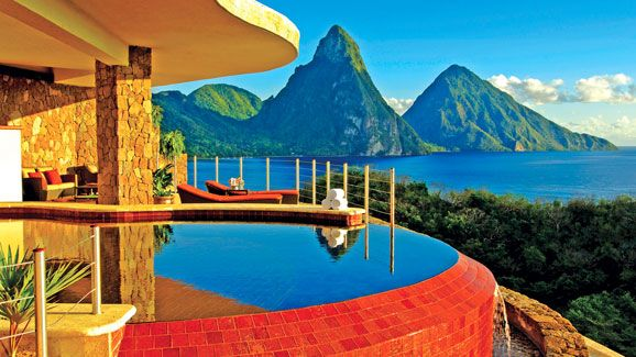 Hailed as one of the best resorts in the world, Jade Mountain is an elite enclave that celebrates the stunning scenic beauty of Saint Lucia.