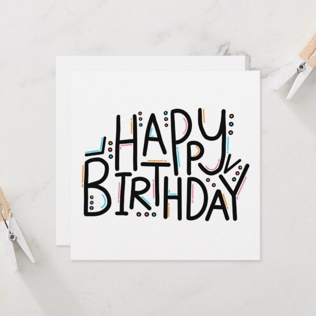 Happy Birthday Sign Discover Imperfect Happy Birthday Card Zazzle Com This Card May Happy Birthday Cards Diy Happy Birthday Cards Handmade Birthday Cards Diy