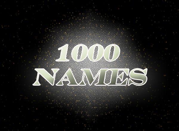 download 1000 names