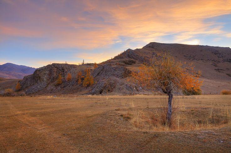 Altai Mountains, Aktas, the dawn of 26.09.2010