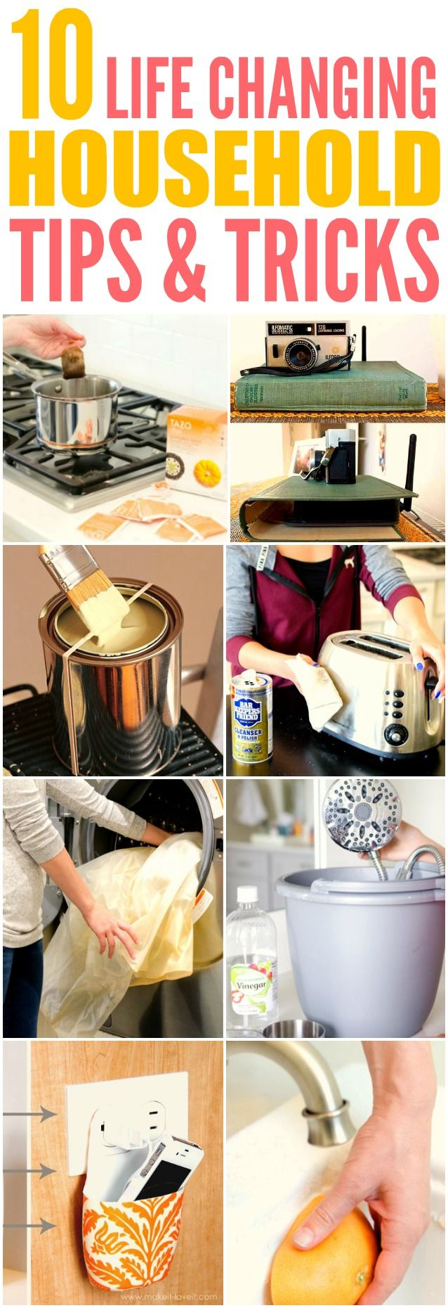 These 10 best home hacks of all time are SO GOOD! I'm so glad I found these GREAT tips! Now I have some great ideas for cleaning and organizing. Definitely pinning for later!