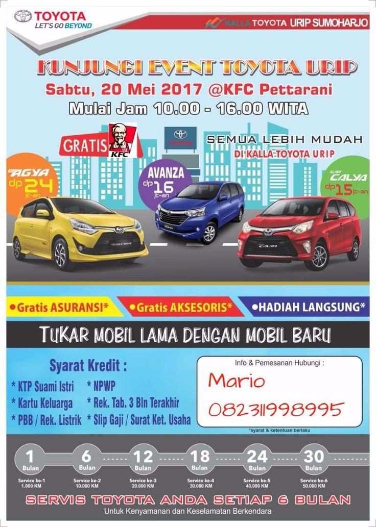 Promo Toyota Calya spesial bulan Mei dan edisi weekend Dp mulai 15jta atau angsuran 3,4jta More Info Hub:Mario 082311998995