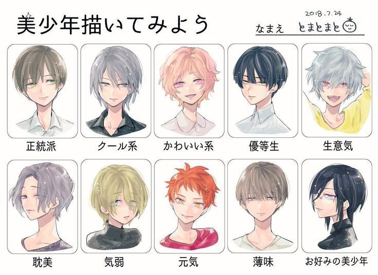 Anime Male Hairstyle Reference In 2020 Anime Boy Hair Boy Hair Drawing Manga Hair