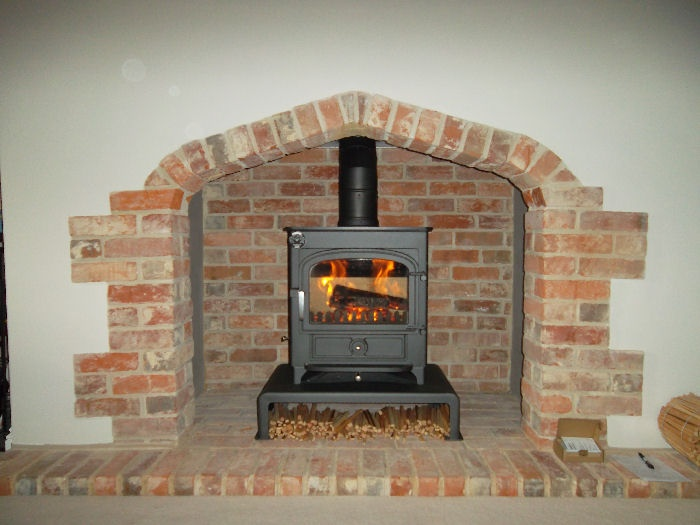 Wood burning stoves. Would love a mantel built around our woodburner.