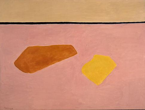 "Milton Avery, 1885-1965, Beach Blankets (1960), 53-5/8"" x 71-5/8"", oil on canvas, Wichita Art Museum Art, Wichita, KS"